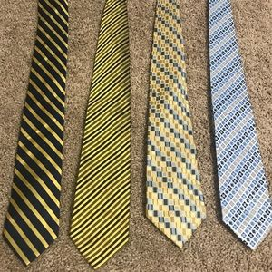 Other - Bundle of 4 Gold & Blue Neck Ties 👔